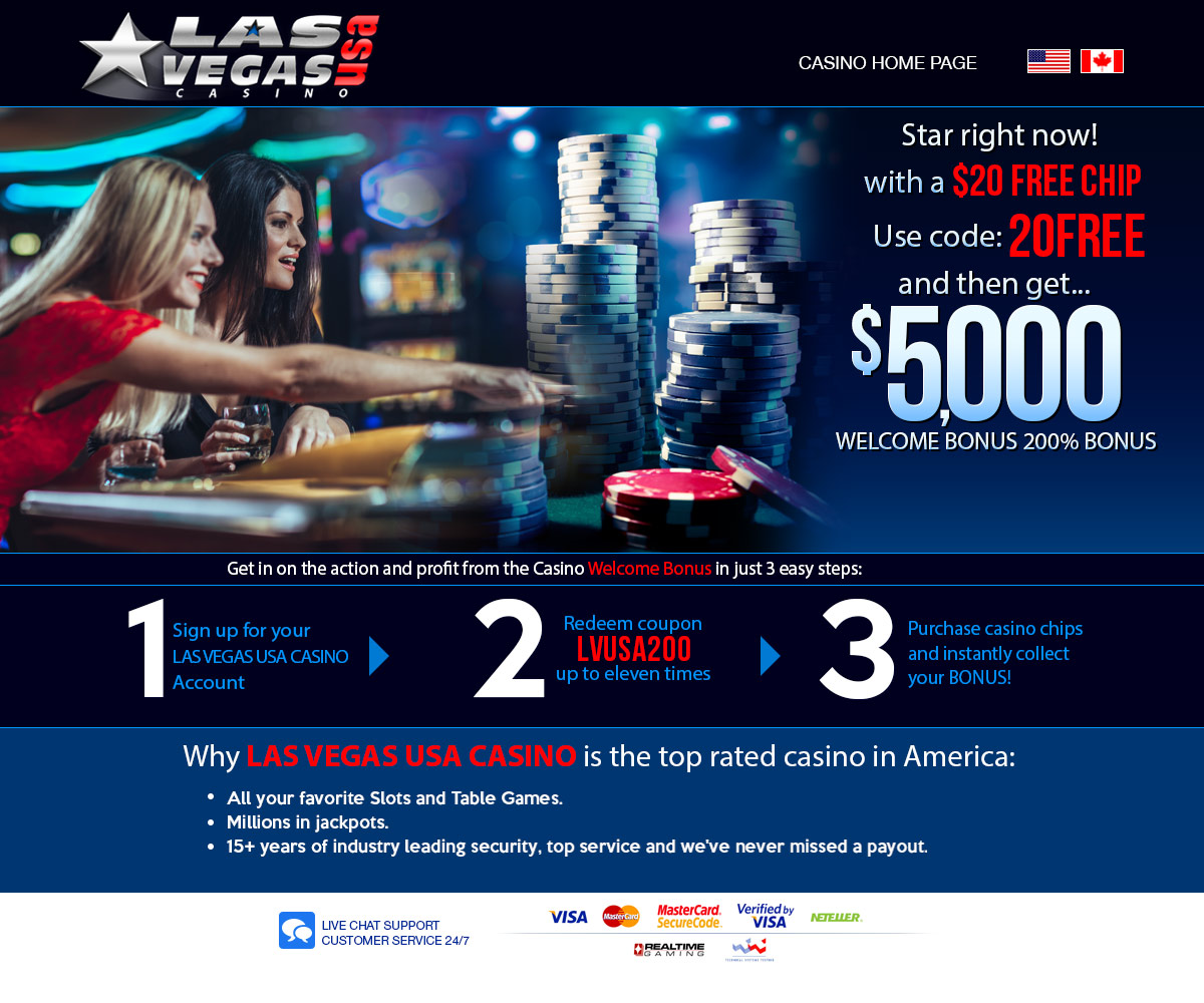 Las Vegas Usa Casino Promo 5 000 Welcome Bonus