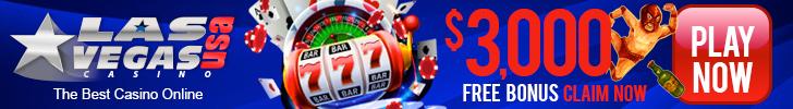 $3,000 Welcome Bonus Las Vegas USA Casino