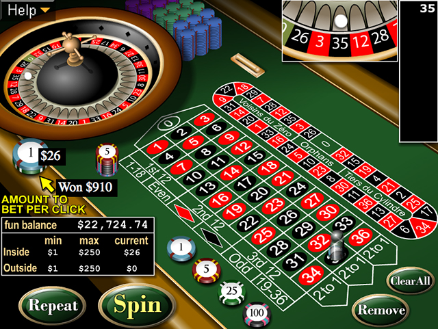 free game roulette european